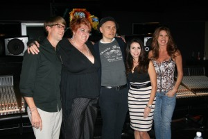 Matilda the Hun with Billy Corgan, Little Egypt, Hollywood. Producer Jason Connell on the left of Matilda.